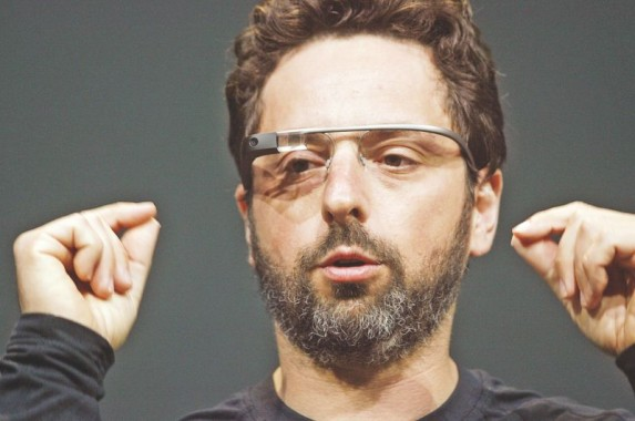 Sergey Brin, co-founder of Google, introduces the Google Glass Explorer edition during Google's annual developer conference in this June 27, 2012 file photo in San Francisco. Photo: AFP