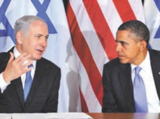 Netanyahu and Obama, during the American president's first visit to Israel.   Photo: AFP