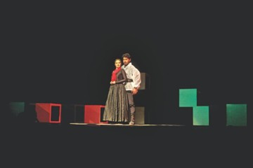 "Padatik Natya Sangsad (TSC) staged ""Macbeth"" at the National Theatre Hall of Bangladesh Shilpakala Academy on Saturday. The 36th production of the Shakespearean tragedy was staged marking the 449th birth anniversary of the bard. The production was staged again yesterday at the British Council auditorium. Photo: Ridwan Adid Rupon"
