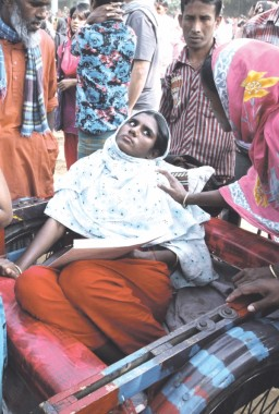 A survivor of the five still suffers from her injuries. Photo: Anisur Rahman