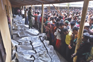 DNA samples were taken from 59 unidentified bodies but that may not be enough to identify the corpses. Photo: Rashed Shumon