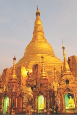 Shwedagon Pagoda at sunset. Photos: Courtesy
