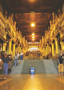Stairway to Shwedagon Pagoda. Photo: Courtesy