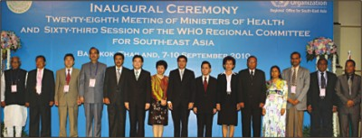 Health Ministers from South-East Asia highlight challenges