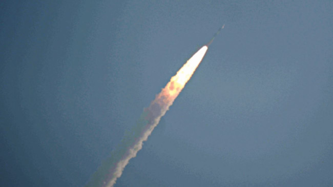 PM congratulates ISRO team for the successful launch of its 100th satellite class=