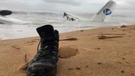 Abidjan plane wreckage,