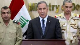 Iraq parliament , Iraqi lawmakers, Defence Minister Khaled al-Obeidi, Prime Minister Haider al-Abadi's