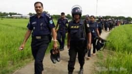 militancy, militants, Manikganj, terrorism, anti-militancy drive, Harirampur upazila, Rapid Action Battalion, Armed Police Battalion, char areas, the Padma river, the Jamuna river