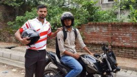 Mashrafe Bin Mortaza with UberMOTO