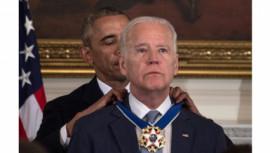 US President Barack Obama awards Vice President Joe Biden
