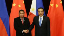 Philippines' President Rodrigo Duterte, China, US