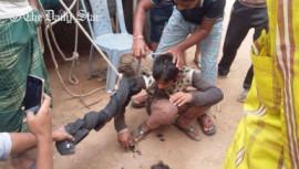 A 12-year-old boy being tortured brutally