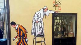 Pope Francis, Vatican, graffiti artist