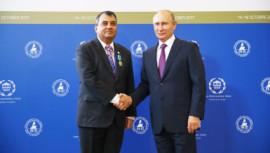 Russian President Vladimir Putin honours Inter-Parliamentary Union President Saber Hossain Chowdhury