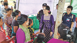 Suu Kyi Visits Rakhine Finally...