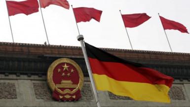 A German flag in Beijing