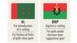 AL, BNP square off  over polls-time govt