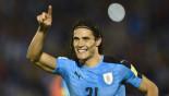 Cavani at the double as Uruguay down Venezuela