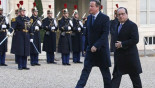 David Cameron hold talks with French President