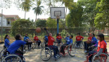 Hoop dreams of Cambodia's disabled cagers