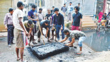 Cleaning at Jurain: Locals take it upon themselves