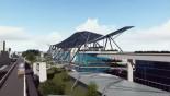 Metro rail construction work begins