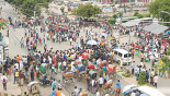 City chokes on demo