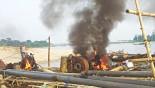 Jaflong Stone Extraction: Mobile court takes action, destroys excavators