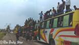 Long tailbacks on highways for Eid rush