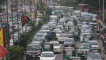 Dhaka city sees heavy traffic