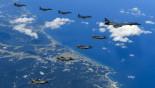 US warplanes fly off North Korea coast