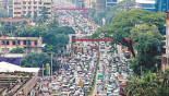 Dhaka city traffic collapses again