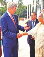 Prime Minister Sheikh Hasina, US Secretary of State, John Kerry