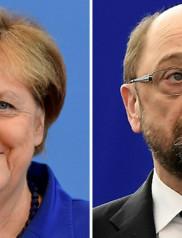 Chancellor Angela Merkel, Martin Schulz