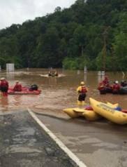 US flood, West Virginia flood, Emergency crew