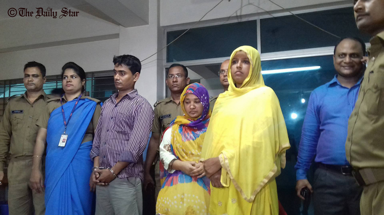 Cop wife among three held