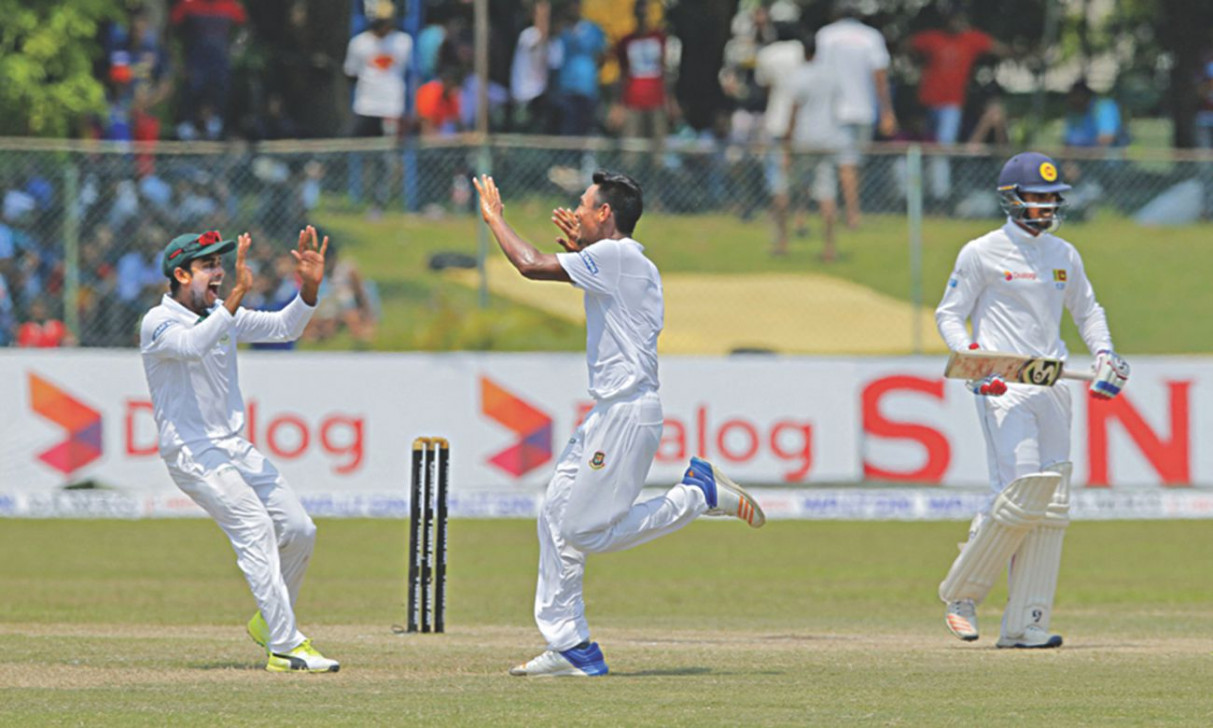 Sri Lanka take lead against Bangladesh