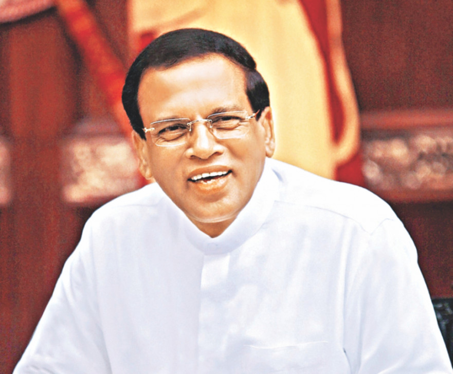 President Maithripala Sirisena left for Bangladesh this morning