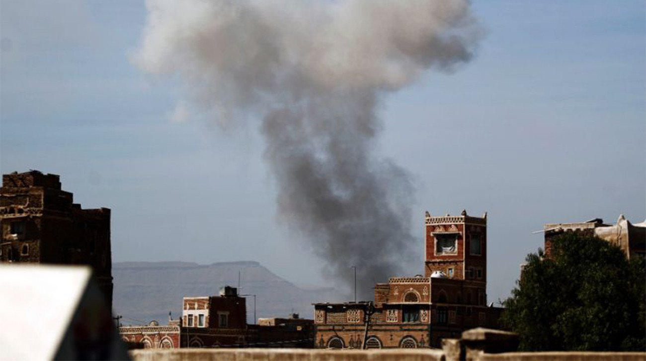 Air strikes near Houthi checkpoint kill 48 in Yemen