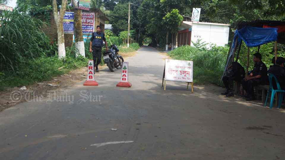 Suspected militant den in Ashulia of Savar
