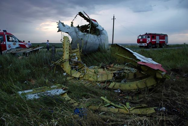 Debris of the Malayasian airline scatter everywhere in Grabovo, Ukraine, Thursday July 17, 2014. Photo: AP
