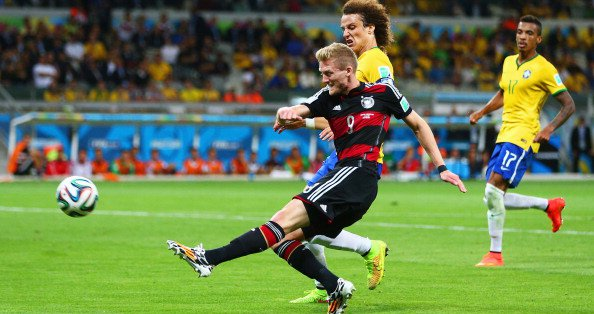 Andre Schuerrle of Germany scores his team's seventh goal and his second of the game during their FIFA World Cup semi-final with Brazil on July 8, 2014 in Belo Horizonte, Brazil. Photo: Getty Images