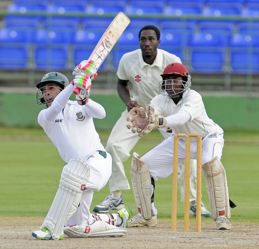 Mushfiqur Rahim struck five fours and three sixes in his 82 not out. WICB Media Photo