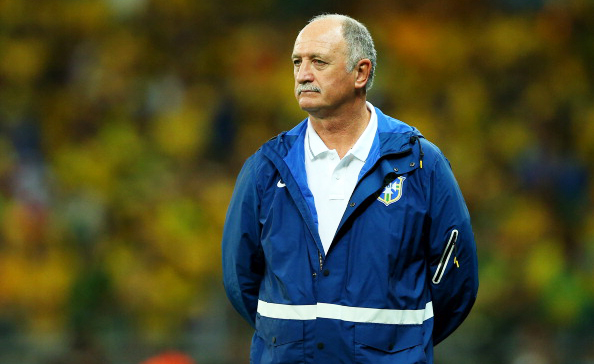 Head coach Luiz Felipe Scolari of Brazil looks on after conceding five goals in the first half of the FIFA World Cup Brazil vs Germany semi-final on July 8, 2014 in Belo Horizonte, Brazil. Photo: Getty Images