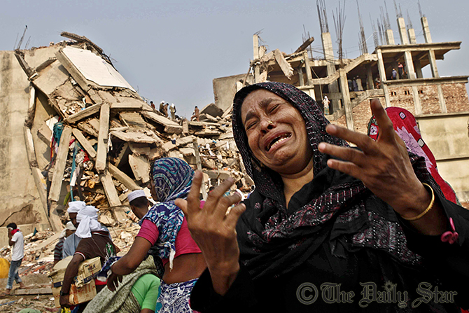 Inconsolable, relatives of the dead and the missing still flock to Rana Plaza despite no hope of any other survivor. Photo: Star