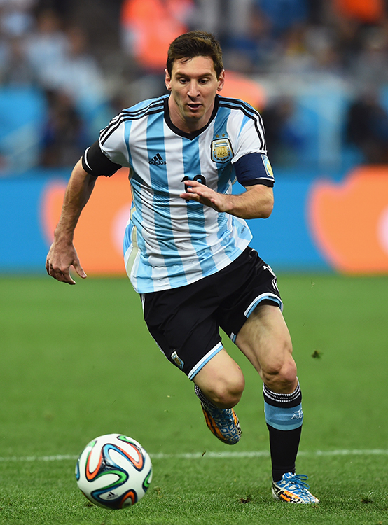Lionel Messi of Argentina controls the ball during their semi-final match with Netherlands at The Corinthians Arena in Sao Paulo on July 9, 2014. Photo: Getty Images