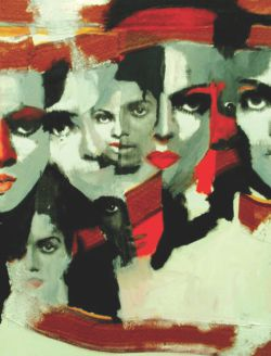 An artwork from his series on Michael Jackson.
