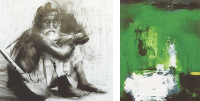 Artworks by Jamal Ahmed and Biren Shome