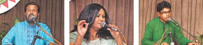 Kiron Chandra Roy, Fahmida Nabi and Bizon Chandra Mistry