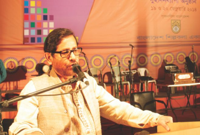 Asaduzzaman Noor speaks at the programme